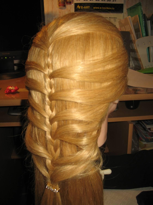 Пятипрядная коса схема плетения фото