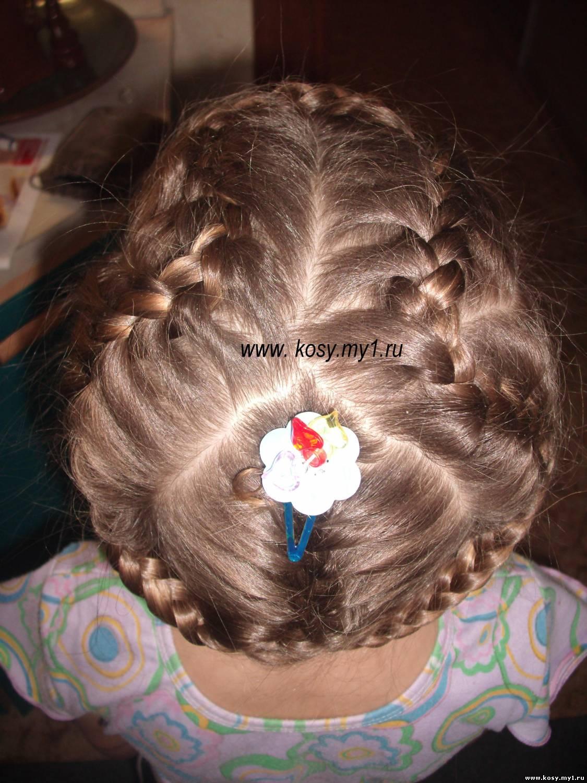 Плетение колоском прически для девочек 167