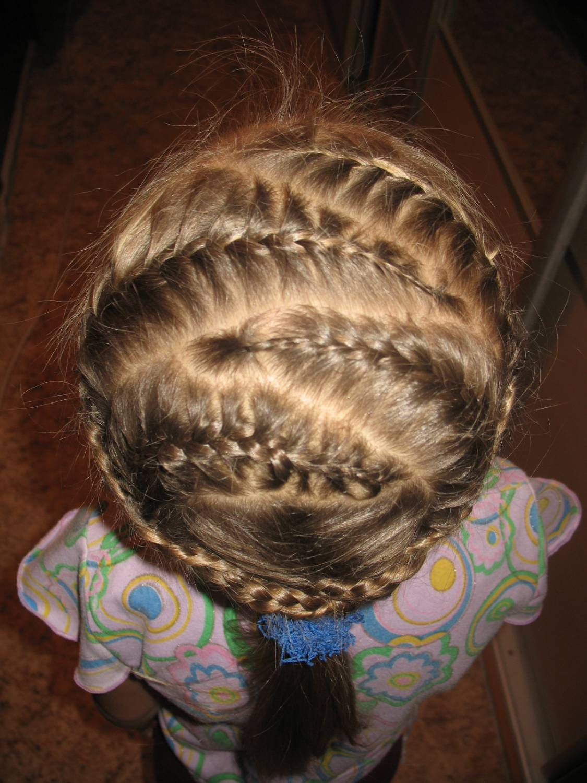 Плетение кос зигзагом схема фото