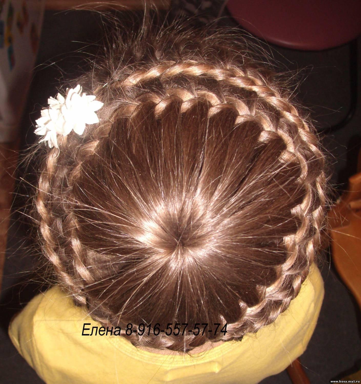 Прически с корзинкой из волос